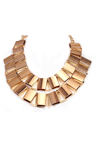 Double Metal Chain Necklace