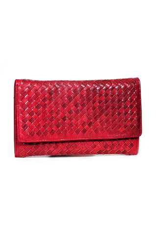 Lady in Red Woven Clutch
