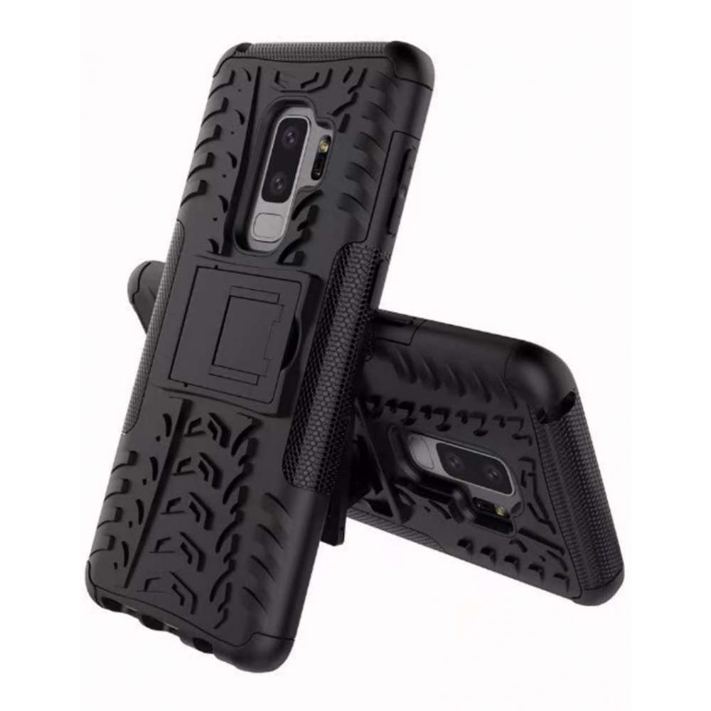 Just in Case Rugged Hybrid Samsung Galaxy S9 Plus Case (Black)