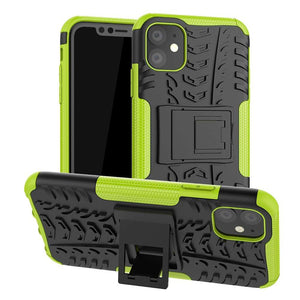 Just in Case Rugged Hybrid Apple iPhone 11 Case (Green)