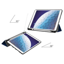 Load image into Gallery viewer, Just in Case Apple iPad Air (2019) 10.5 Smart Tri-Fold Case With Pen Slot (Blue)