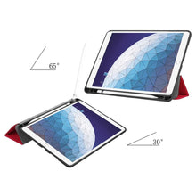 Load image into Gallery viewer, Just in Case Apple iPad Air (2019) 10.5 Smart Tri-Fold Case With Pen Slot (Red)