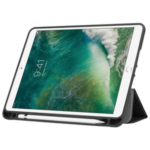 Just in Case Apple iPad 9.7 (2017 / 2018) Smart Tri-Fold Case With Pen Slot (Black)