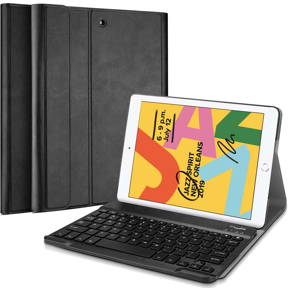 Just in Case Apple iPad 10.2 2019 Premium Bluetooth Keyboard Cover (Black)