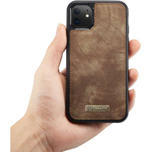 Load image into Gallery viewer, CASEME Apple iPhone 11 Vintage Portemonnee Cover - Brown