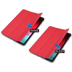 Just in Case Apple iPad Pro 11 2018 Smart Tri-Fold Case (Red)