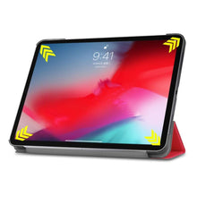 Load image into Gallery viewer, Just in Case Apple iPad Pro 11 2018 Smart Tri-Fold Case (Red)
