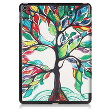 Load image into Gallery viewer, Just in Case Apple iPad 9.7 (2017 / 2018) Smart Tri-Fold Case (Painted Tree)