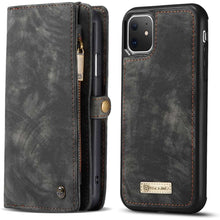 Load image into Gallery viewer, CASEME Apple iPhone 11 Vintage Portemonnee Cover - Black