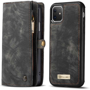 CASEME Apple iPhone 11 Vintage Portemonnee Cover - Black