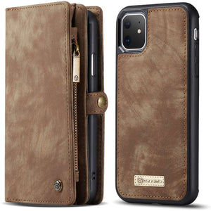 CASEME Apple iPhone 11 Vintage Portemonnee Cover - Brown