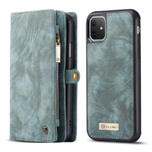 Load image into Gallery viewer, CASEME Apple iPhone 11 Vintage Portemonnee Cover - Blue