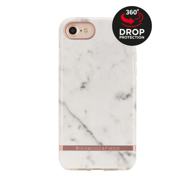 Richmond & Finch Freedom Series Apple iPhone 6/6S/7/8 White Marble/Rose Gold