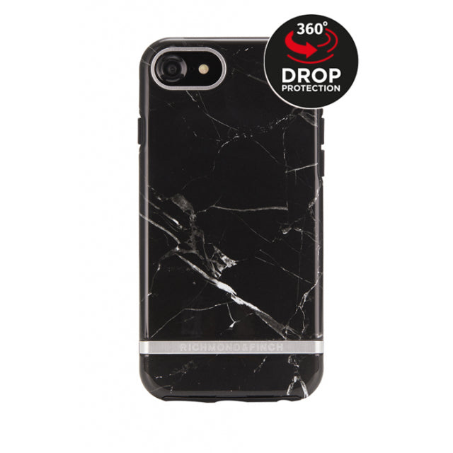 Richmond & Finch Freedom Series Apple iPhone 6/6S/7/8 Black Marble/Silver