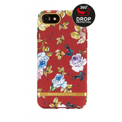 Richmond & Finch Freedom Series Apple iPhone 6/6S/7/8 Red Floral/Gold