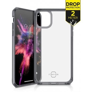 ITSKINS Level 2 HybridFrost for Apple iPhone 11 Pro Max Transparent Black