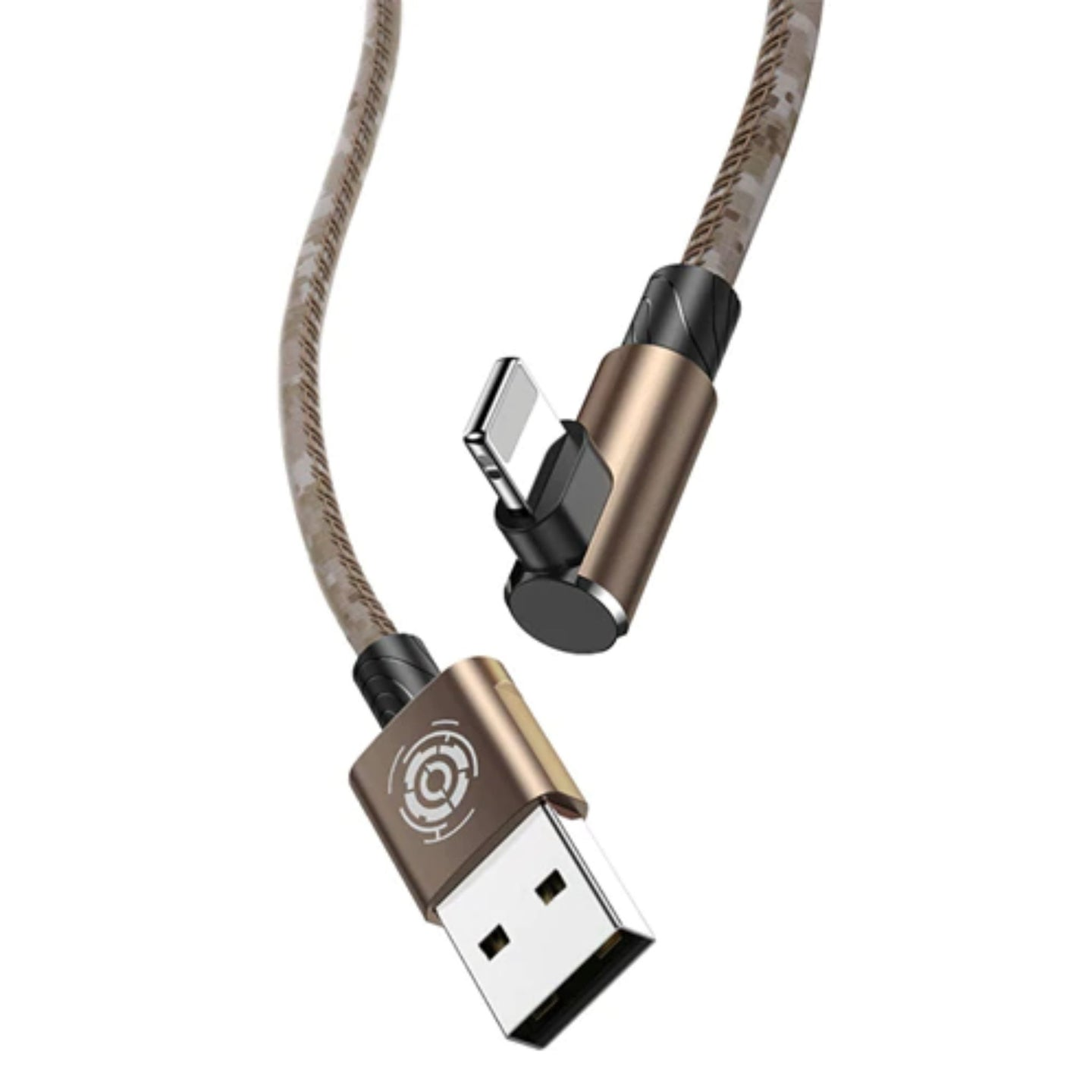 Lightning Elbow series cable - Army brown