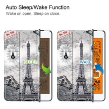 Load image into Gallery viewer, Just in Case Apple iPad Mini 2019 Smart Tri-Fold Case (Eiffel Tower)