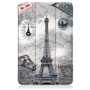 Just in Case Apple iPad Mini 2019 Smart Tri-Fold Case (Eiffel Tower)