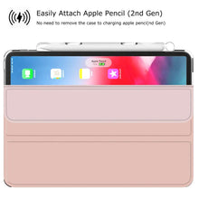 Load image into Gallery viewer, Just in Case Apple iPad Pro 11 2018 TPU Flip cover With Pen Slot (Pink)