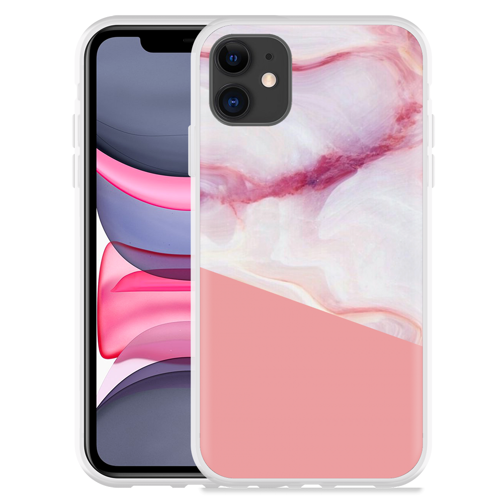 Apple iPhone 11 Hoesje Pink Marble