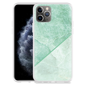 Apple iPhone 11 Pro Hoesje Green Marble