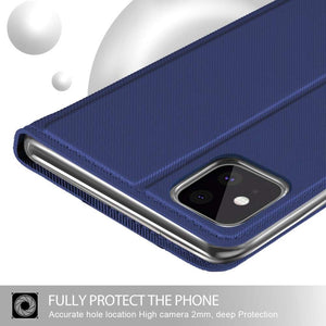 Fashion TPU Wallet cover voor Apple iPhone 11 Pro Max - Blauw