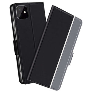 Fashion TPU Wallet cover voor Apple iPhone 11 Pro Max - zwart