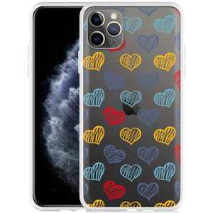 Apple iPhone 11 Pro Max Hoesje Doodle hearts