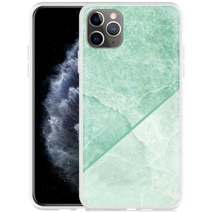 Apple iPhone 11 Pro Max Hoesje Green Marble