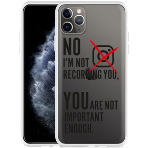 Apple iPhone 11 Pro Max Hoesje Not recording you