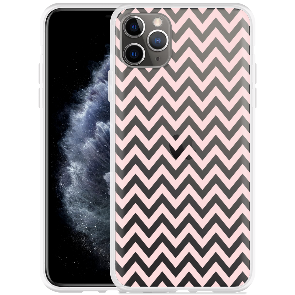 Apple iPhone 11 Pro Max Hoesje Wavy Pink