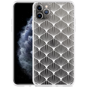 Apple iPhone 11 Pro Max Hoesje White Abstract Pattern