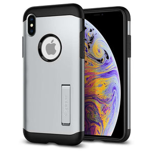 Spigen Slim Armor Apple iPhone Xs Max Case (Satin Silver) - 065CS25159