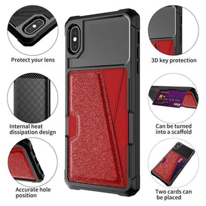Just in Case Hybrid Card Holder Apple iPhone XS Max - Red
