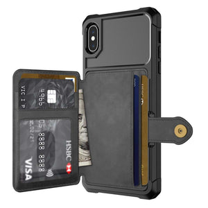 Just in Case Magnetic Card Holder Hybrid Case Apple iPhone XS Max - Black