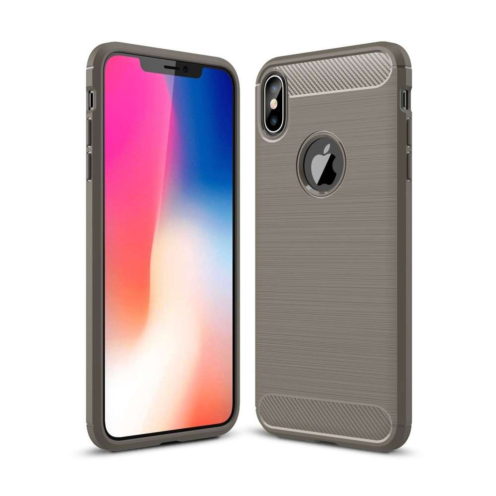 Just in Case Rugged TPU Apple iPhone Xs Max Case (Grey)