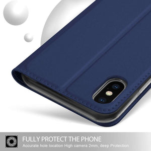 Just in Case Apple iPhone Xs Max Wallet Case Slimline - Blue