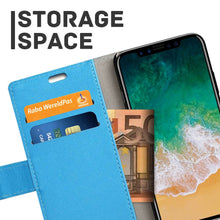 Load image into Gallery viewer, Just in Case Apple iPhone Xs Max Wallet Case (Blue)