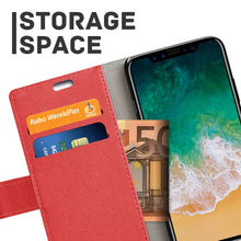 Load image into Gallery viewer, Just in Case Apple iPhone Xs Max Wallet Case (Red)
