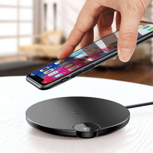 BASEUS 10W Digital LED Display Wireless Charger Pad - Black