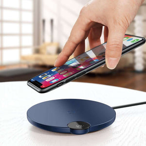 BASEUS 10W Digital LED Display Wireless Charger Pad - Blue