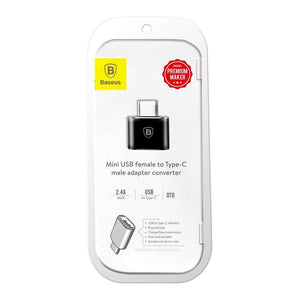Baseus Adapter (USB naar USB-C) (Black)