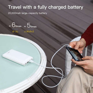 Baseus Mini Powerbank 20000mAh - USB C en MicroUSB