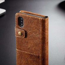 Load image into Gallery viewer, CASEME Apple iPhone Xs Max Wallet Case - Brown