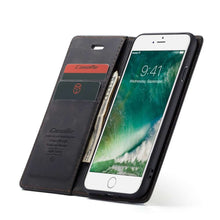 Load image into Gallery viewer, CASEME Apple iPhone 8 / 7 Retro Wallet Case - Black