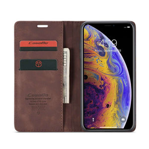 CASEME Apple iPhone XS Max Retro Wallet Case - Coffee