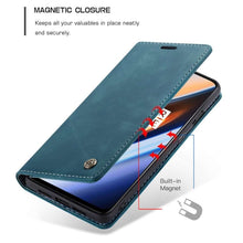 Load image into Gallery viewer, CASEME OnePlus 7 Retro Wallet Case - Blue