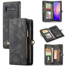 Load image into Gallery viewer, CASEME Samsung Galaxy S10 Vintage Portemonnee Hoesje - Grey