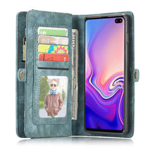 Load image into Gallery viewer, CASEME Samsung Galaxy S10 Plus Vintage Portemonnee Hoesje - Blue